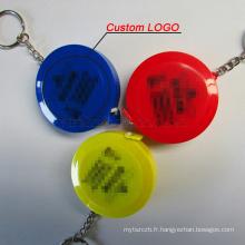 En gros LOGO Personnalisé Portable Rétractable Règle Keychain Ruban à Mesurer 60inch / 150 cm automatique cadeau souverain