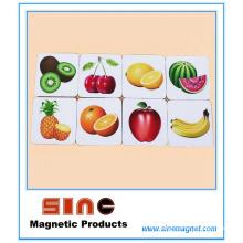 Imán de refrigerador de fruta de educación temprana de niños / aprender juguetes
