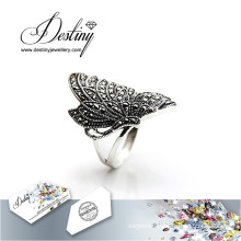 Destiny Jewellery Crystal From Swarovski Ring Butterfly Ring