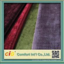Tissu classique de sofa de chenille de polyester simple