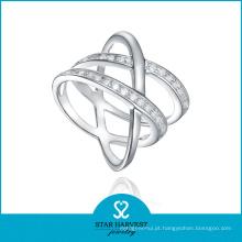 Jóia de anel de prata grande exclusiva com design personalizado (r-0525)
