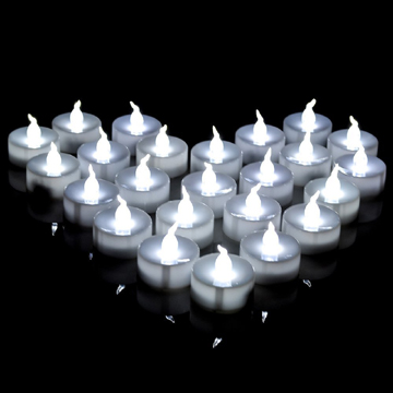 Nonflammable battery operated LED tealight candle