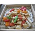Biscoitos de arroz misto de boa qualidade