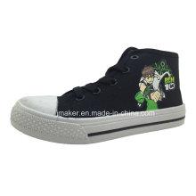 Zapatillas de deporte de tobillo para niños con estampado de dibujos animados Cool Asian (X169-S & B)