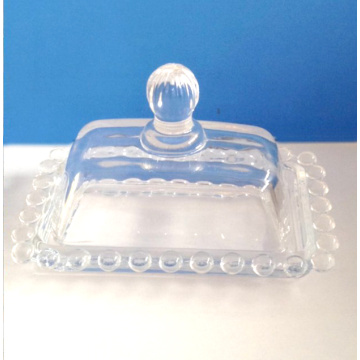 Met de hand gemaakt Bead Crystal Glass Butter Box