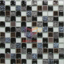 Gold Leaf Glass and Cracked Ceramic Mixed Mosaic Tiles (CST077)