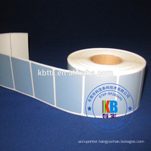Printed label sticker polyester PET matt silver pvc adhesive label