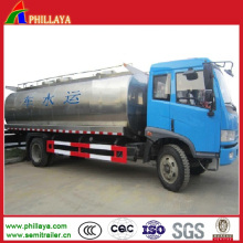 De aço inoxidável tanque de armazenamento de água semi reboque / petroleiro