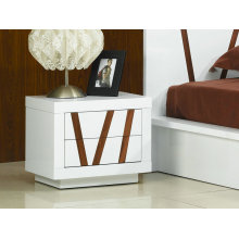 Disen white high gloss bedroom night stand