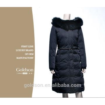 2016New Brand Fashion Clothing Real Fox Fur Hooded Zipper Long Style Women Warm Down Coat XL-4XL
