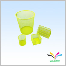Office items metal mesh 4 sets office stationery gift set