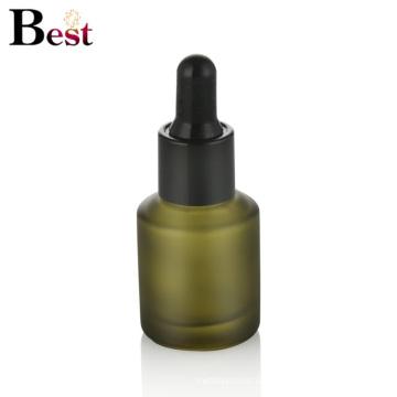 kosmetische Verpackung 30ml schräge Schulter matt grün Glas Tropfflasche Serum Flasche