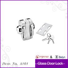Escaparate puerta de cristal cerradura única puerta -dos lados
