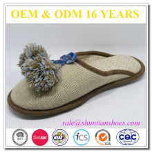 Chaussure d'intérieur en tissu tricoté pour femme de bonne qualité