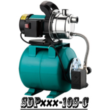 (SDP600-10S-C) Household Self-Priming Jet Garden Booster Water Pump with Tank
