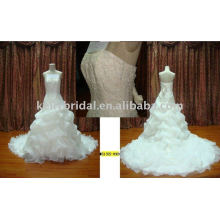 Beautiful Wedding Dress Ruffle Organza Skirt bride Gowns