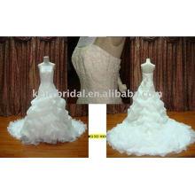 Vestido de noiva bonita Vestido de noiva de organza Ruffle