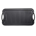 Heavy-duty Cast Iron Steak Griddle Pan/bakeware/BBQ board/reverible griddle