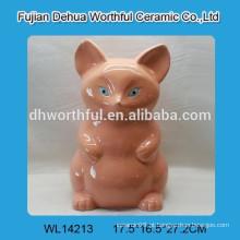 Frasco de biscoito de cerâmica fox promocional