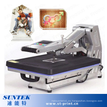Máquina manual de la prensa del calor de la camiseta de 220V Digitaces con el cajón