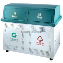 Группировки металлический Открытый контейнер для мусора (DL106)