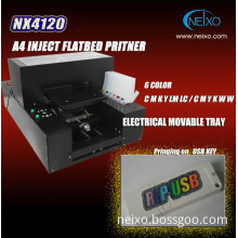 Multifunction Flatbed Printer For USB Flash Key Printing
