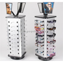 Eyewear Store Desktop Sunglass Display Rotierende Stand, Metall Lock Sonnenbrille Stand Rotating
