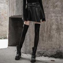 OPQ-454 PUNK RAVE leather half skirt high waist skirt hot girl wearing mini skirt