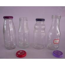 250ml, 260ml, 270ml Glas Saft Flaschen für Getränke mit Metalldeckel