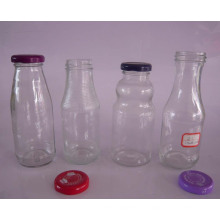 250ml, 260ml, 270ml botellas de jugo de vidrio para bebidas con tapa de metal