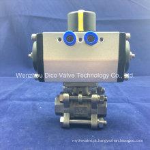 """Válvula de esfera de aço inoxidável de alta temperatura 2 """"da linha 3PC pneumática"""