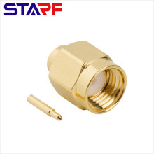 STARF SMA Straight Clamp Male connector for RG402 Semi-flexible Cable