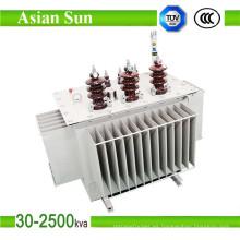 Inmerso en aceite de 630kVA aislamiento Toroidal transformador transformador de distribución (11KV)