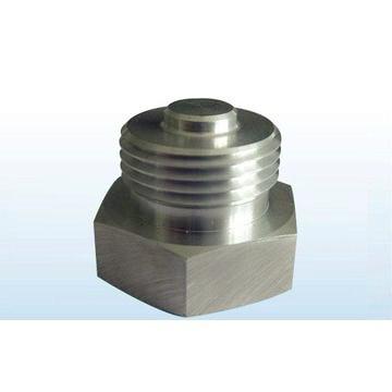 Tuerca hexagonal de la precisión hecha por la máquina del CNC, eje estándar del maleficio.
