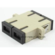 SC / PC Adaptador de Fibra Óptica Multimodo Duplex com Flange