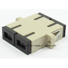 Многомодовый дуплексный волоконно-оптический адаптер SC / PC с фланцем