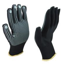 NMSAFETY buen grip13 calibre azul oscuro 100% polycotton liner punteado powderblue pvc en palma anti dlip trabajo guantes de seguridad