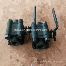 Clapet à bille d'extrémité de fil d'acier au carbone A105 d'ANSI 1500lb forgé