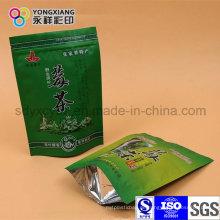 Stehen Sie Zippock Tee Plastik Verpackungsbeutel auf