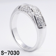 New Design Fashion Jewelry 925 Sterling Silver Ring with CZ (S-7030)