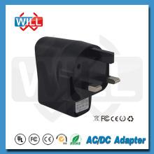 CE certificado GS 5V 0.5A / 0.3A UK adaptador de corriente estándar