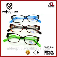 2015 hotselling fashion design student acetate hand made spectacles optical frames eyewear eyeglasses