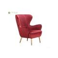 Living Room Blue Fabric Sofa Chair