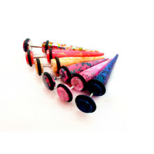 2017 en gros Custom UV Acrylique Piercing Faux Taper