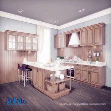 Armários de cozinha em madeira de carvalho brancos clássicos