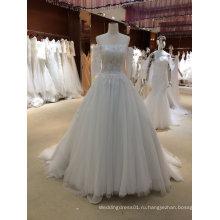 Модные Принцесса свадебные платья с рукавами