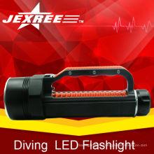 Мощность светодиодный фонарик факел кри светодиодный фонарик стиль власти 4 * кри водонепроницаемый ткани дайвинг