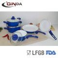 8pcs weiße Keramik Kochgeschirr Set