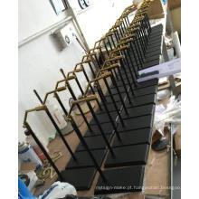 Prateleiras de prateleira de aço escovado de alto grau