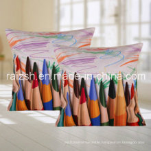 Modern Abstract Pencil Pattern Digital Printing Cushion for Home Use